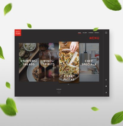 Restaurant Branding Case Study Website Menu