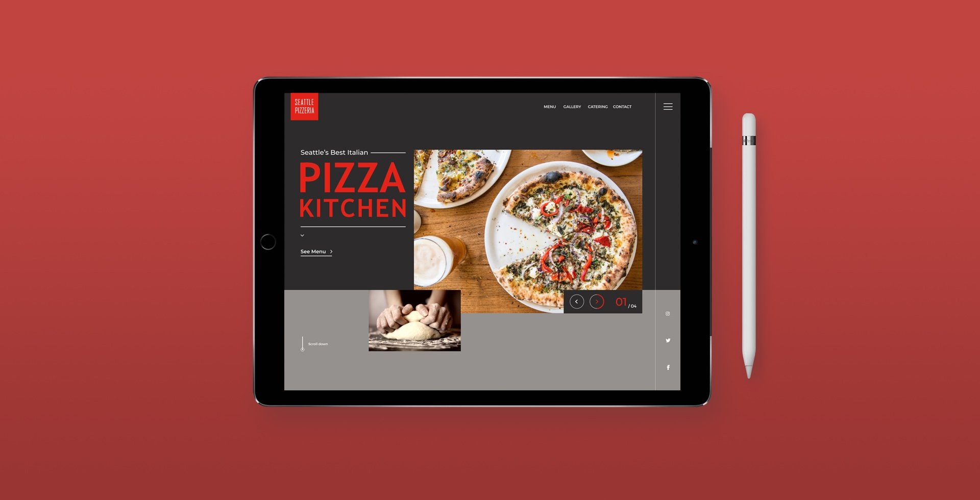Restaurant Branding Case Study Tablet
